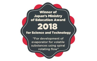 We received The Ministry of Education Award 2018 for Science and Technology
